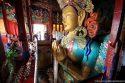 Posąg Buddy w klasztorze w Tikse